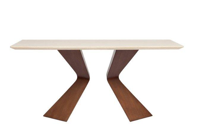 Обеденнный стол Starck Grande со столешницей из мрамора
