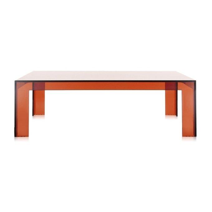 Стол журнальный Invisible Table янтарного цвета