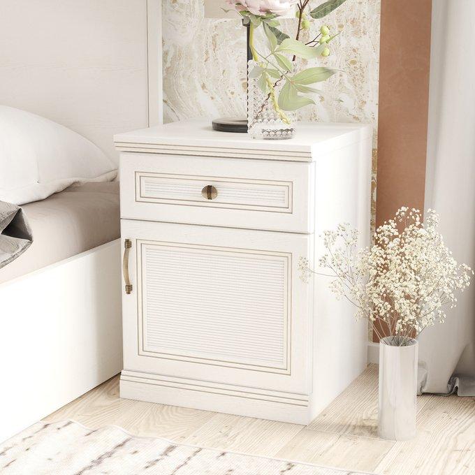 Прикроватная тумба Белладжио белого цвета