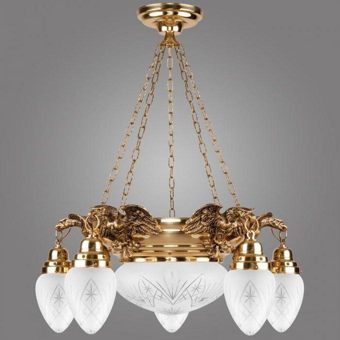 Подвесная люстра Ouro с плафонами из стекла