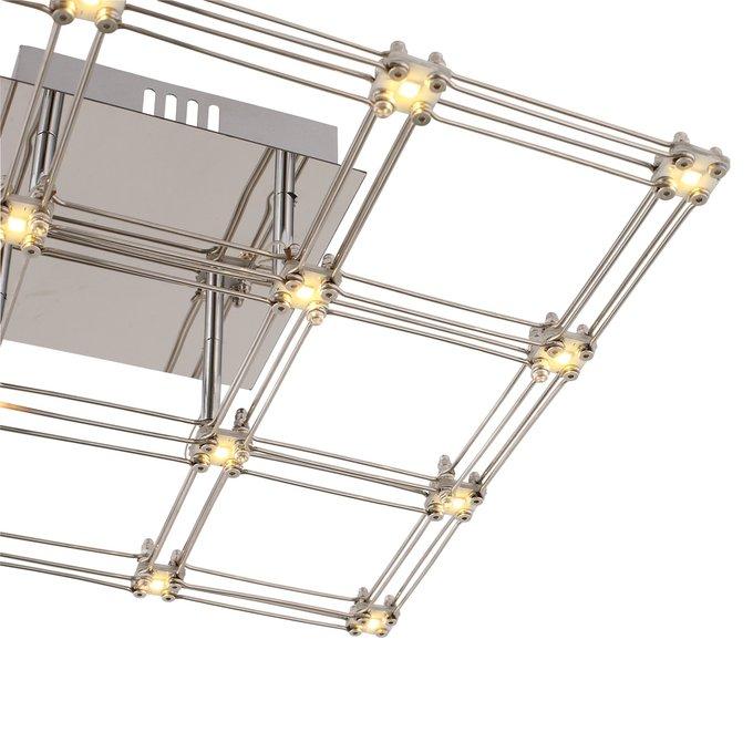 Потолочный светодиодный светильник Genetica цвета хром