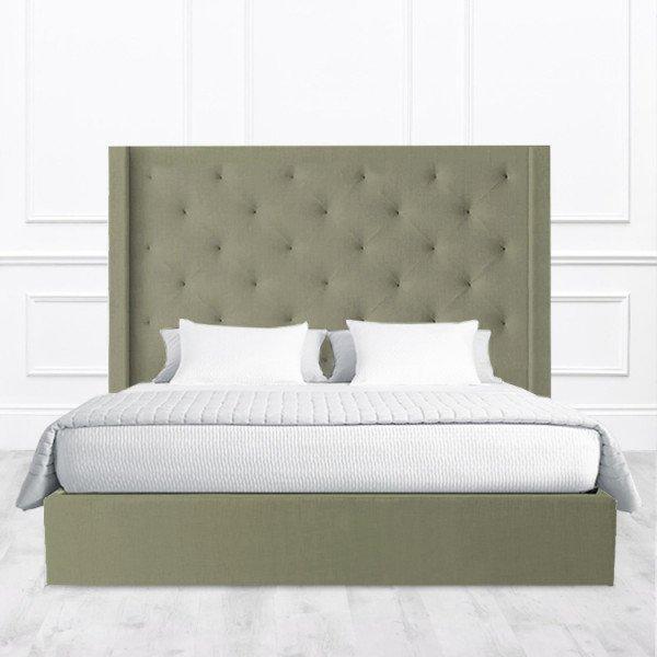 Кровать Joliet из массива с обивкой цвета хаки 160х200
