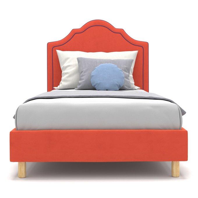 Односпальная кровать Kylie kids на ножках красного цвета 80х160