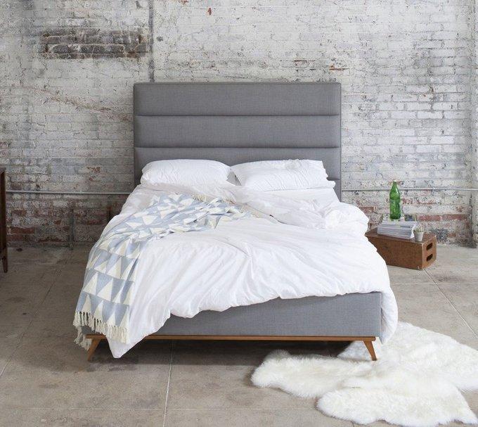 Кровать Cooper Charcoal серого цвета 160х200