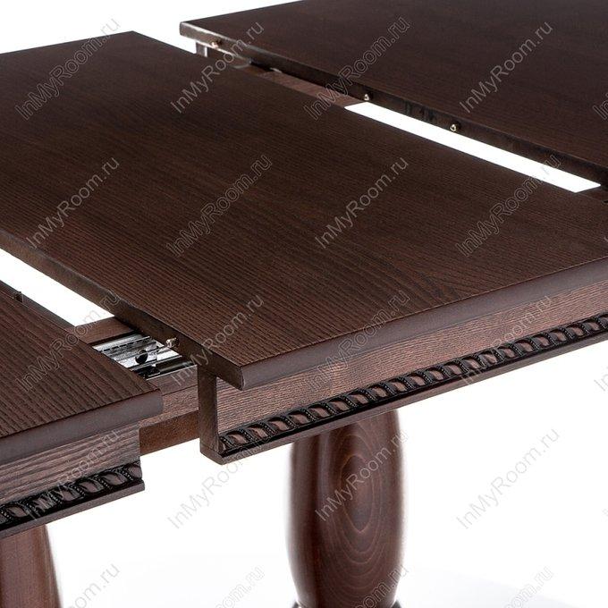 Обеденный стол Кантри с коричневой патиной