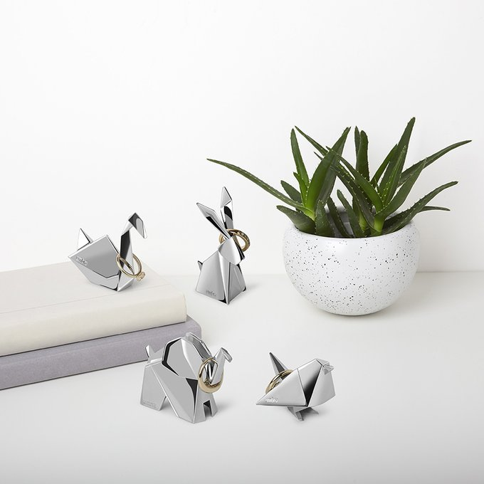 Держатель для колец Umbra origami кролик хром