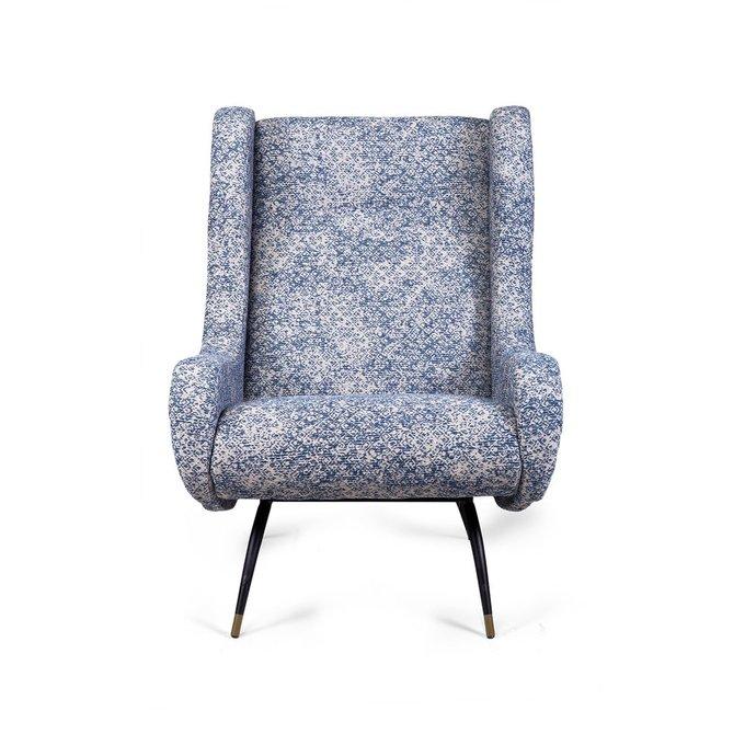 Кресло Zestasia сине-бежевого цвета