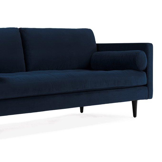 Диван Lucia трехместный тёмно-синего цвета