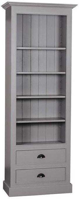 Шкаф книжный Брюгге c двумя ящиками и открытыми полками