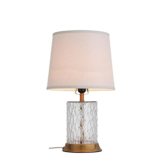Настольная лампа Vecolе с белым абажуром