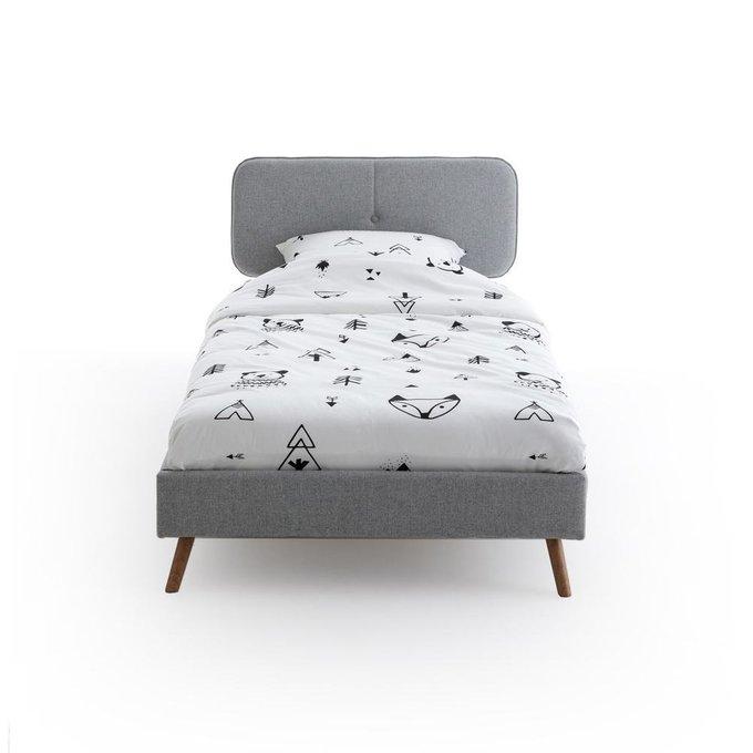 Кровать детская Andy серого цвета 90x190