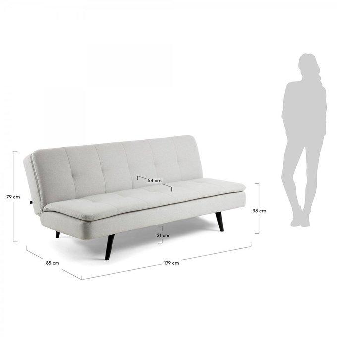 Диван-кровать Abellia светло-серого цвета
