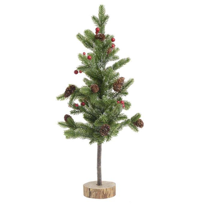 Новогоднее украшение елочка с шишками