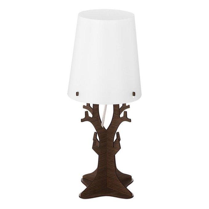Настольная лампа  Huntsham с белым абажуром