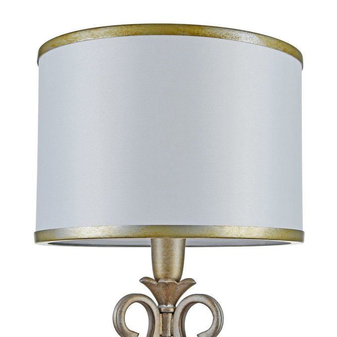 Настольная лампа Fiore с абажуром белого цвета