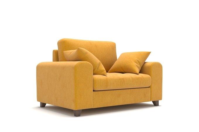 Широкое кресло Vittorio MT желтое