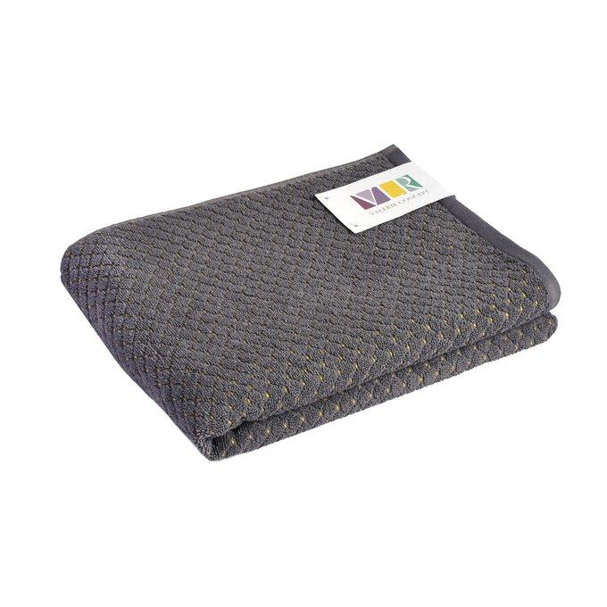 Полотенце из хлопка серого цвета 50х100