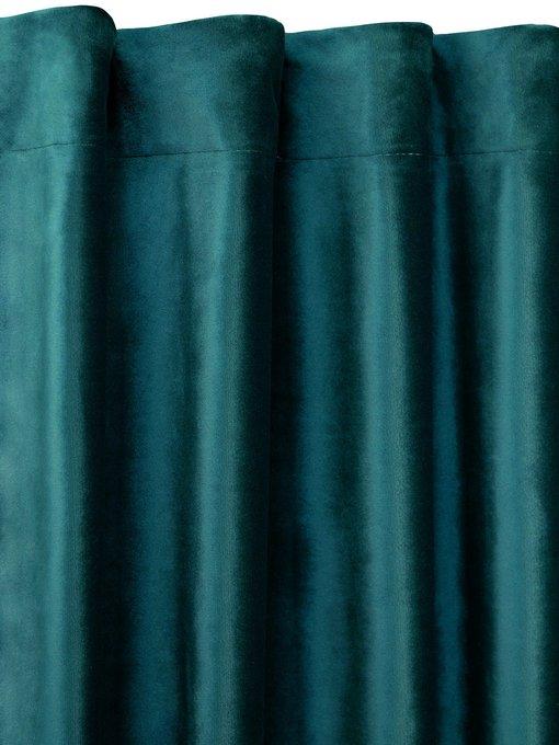 Штора велюр Lagoon цвета морской волны