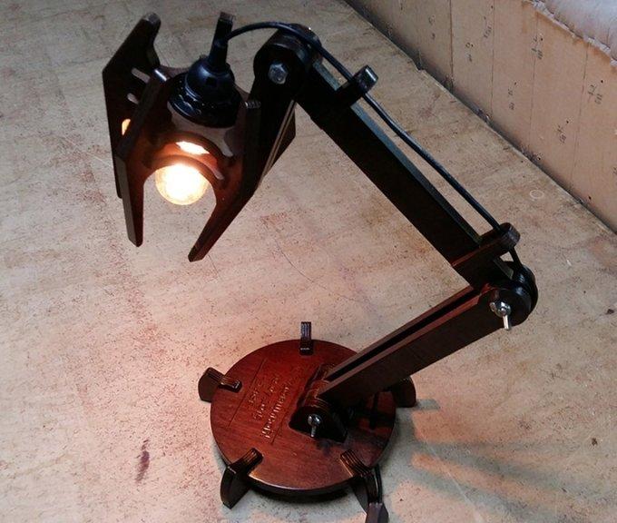 Настольная лампа Focus черного цвета