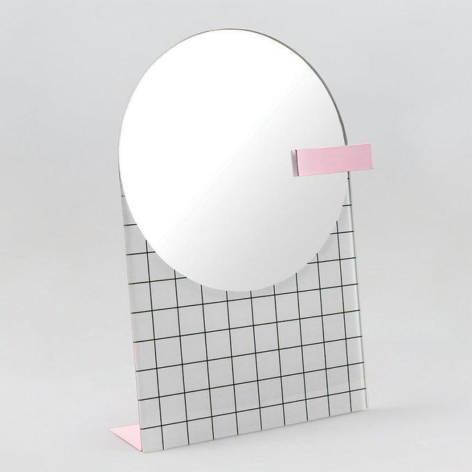 Настольное зеркало The Pool белого цвета