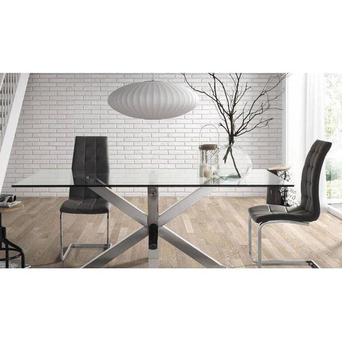 Обеденный стол Julia Grup ARYA из стали и стекла