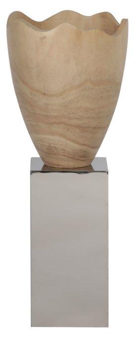 """Ваза настольная """"Rupture - Stainless Steel Pillar"""""""
