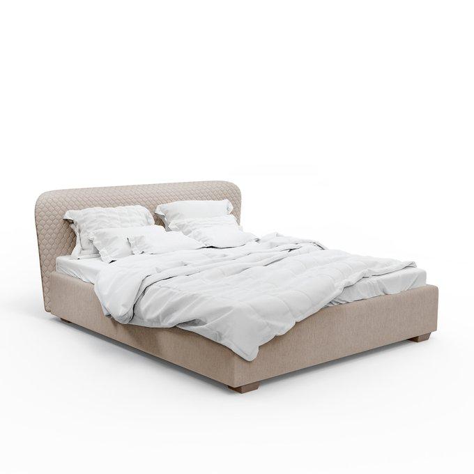 Кровать Венди бежевого цвета 140х200 с подъемным механизмом
