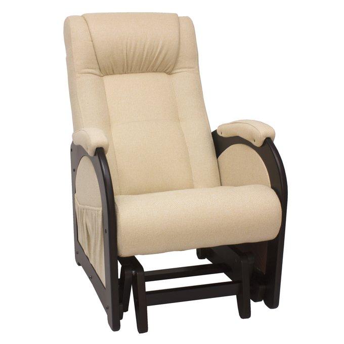 Кресло-глайдер для отдыха Модель 48 без лозы венге/Malta03
