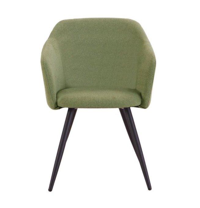 Стул Уолтер с обивкой из ткани зеленого цвета