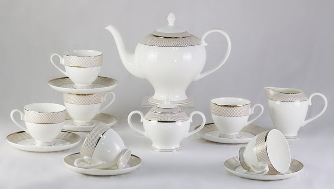Чайный сервиз Bianko 17 Pcs tea Set из фарфора