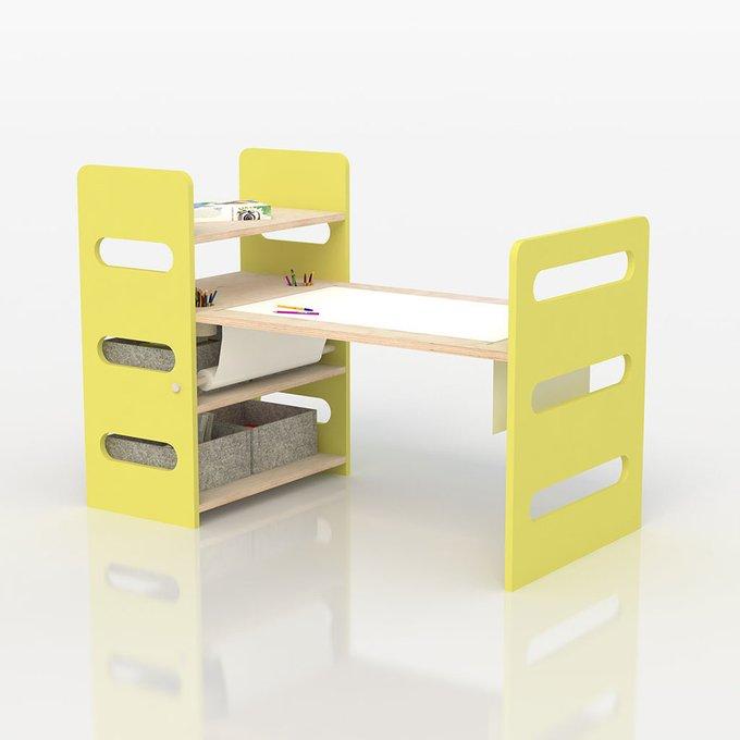 Стол для творчества желтого цвета