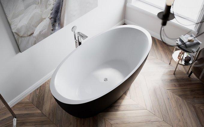 Каменная Ванна Sensuality Черно-Белая