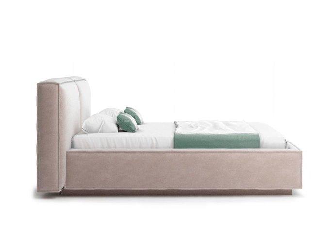 Кровать Verde бежевого цвета с ортопедическим основанием 180х200