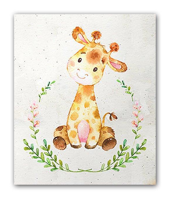 Постер Жирафа А4 на бумаге