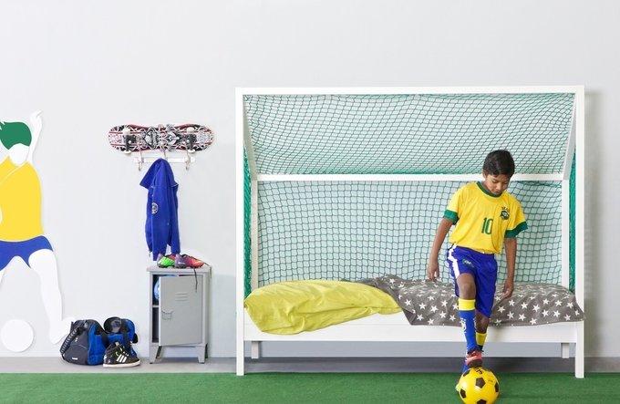 """Кровать-ворота De Eekhoorn """"FOOTBALL BED"""" 90х200 см"""