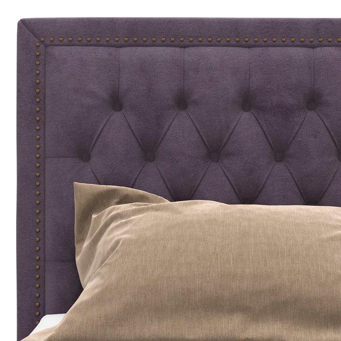 Кровать Celine фиолетового цвета на ножках 200х200
