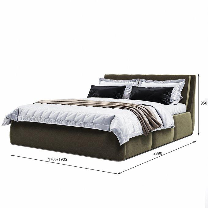 Кровать Гесиона 180х200 темно-серого цвета с подъемным механизмом