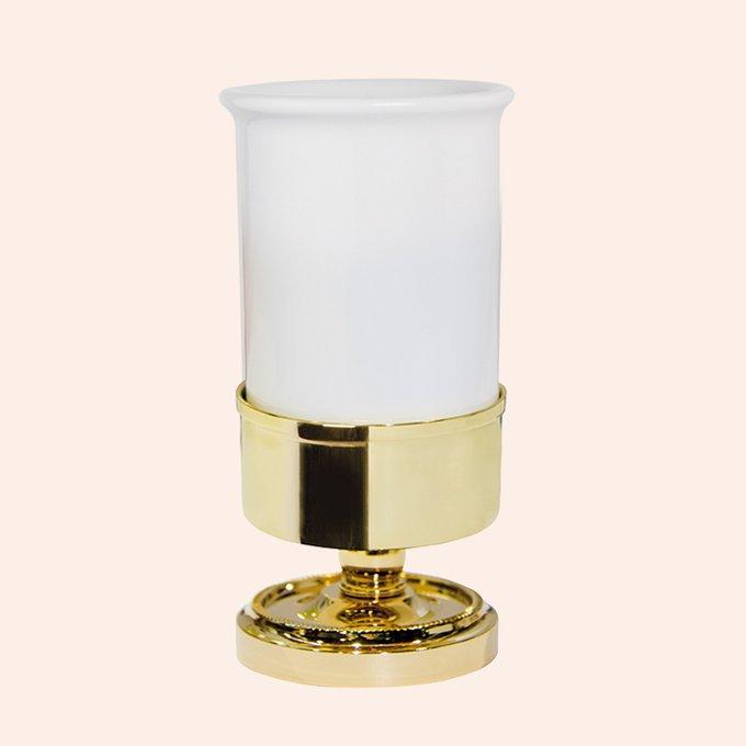 Стакан для зубных щёток Bristol с  держателем золотого цвета