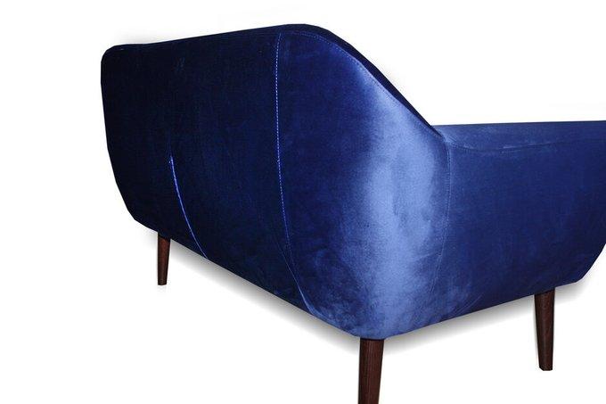 Прямой диван Чейз синего цвета