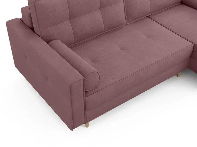 Угловой диван ОТТО правый светло-розового цвета