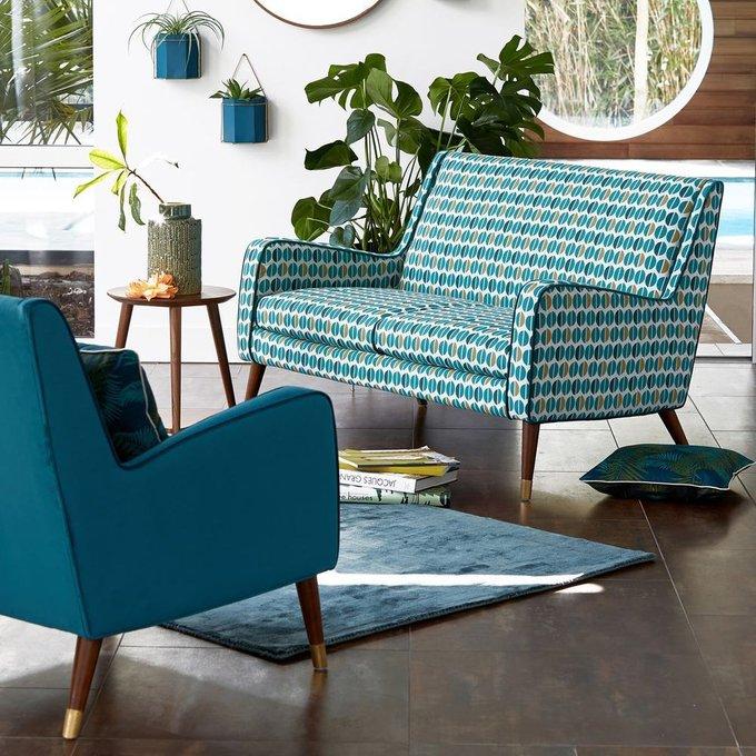 Кресло Wilde Y сине-желтого цвета