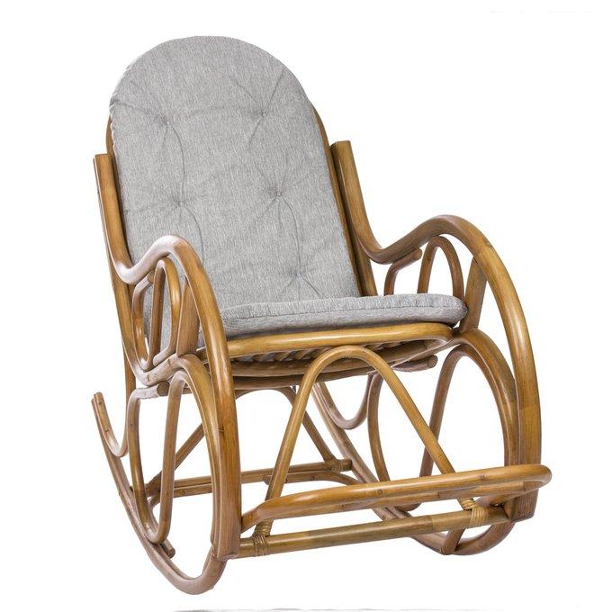 Кресло-качалка Classic с подушкой коньяк