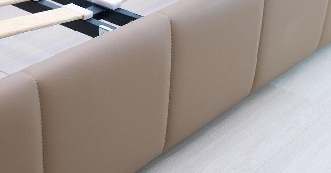 Кровать Хлоя 160х200 бежево-коричневого цвета без подъемного механизма