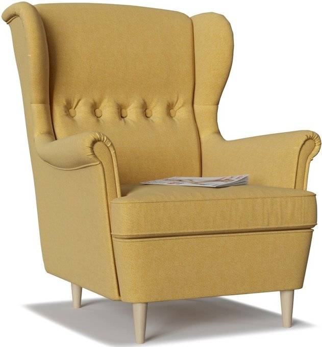 Кресло Торн Porshe Yellow желтого цвета