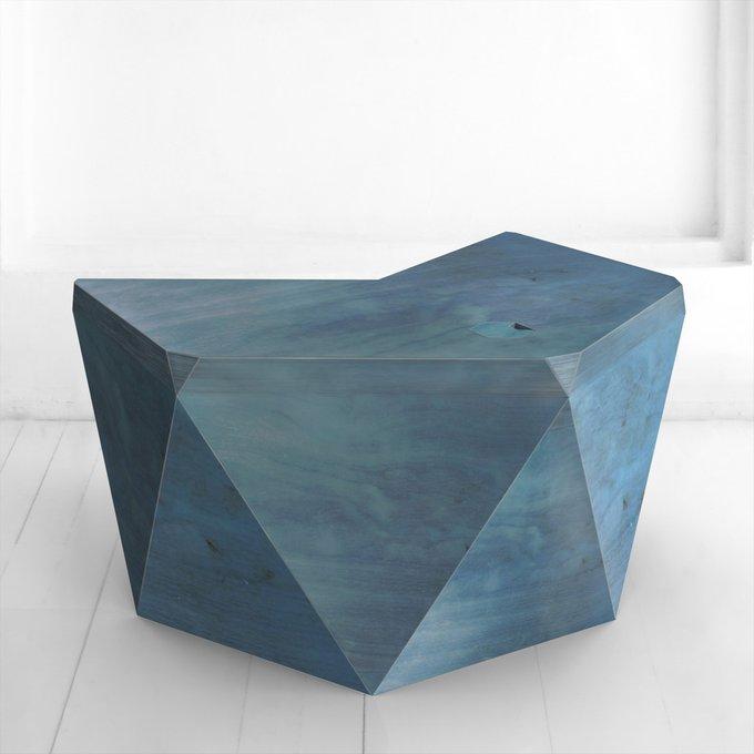 Рабочий стол Гексагон Брильянт в синем цвете