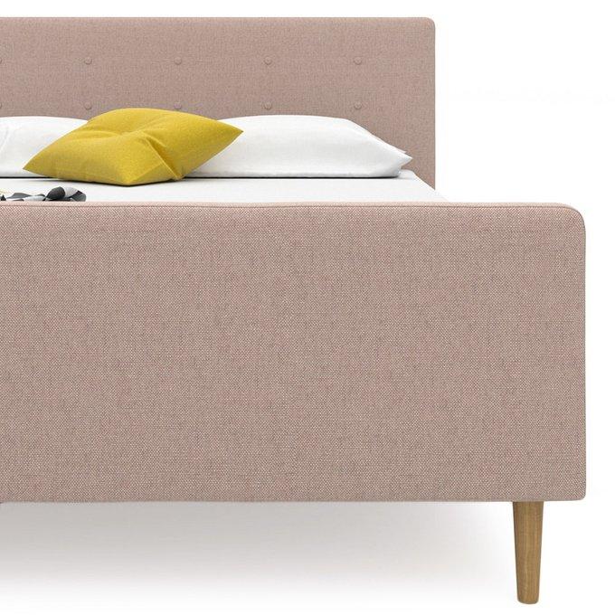 Кровать Scandi на ножках бежевого цвета 180х200