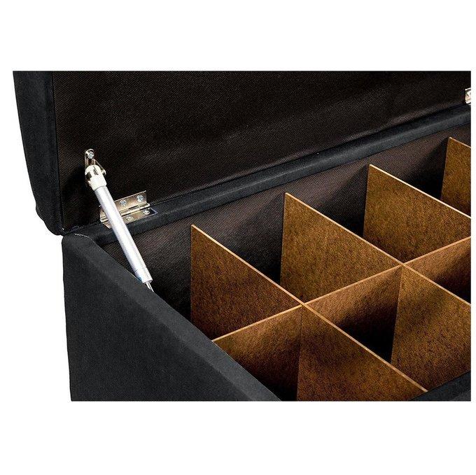 Банкетка-обувница Linon L черного цвета