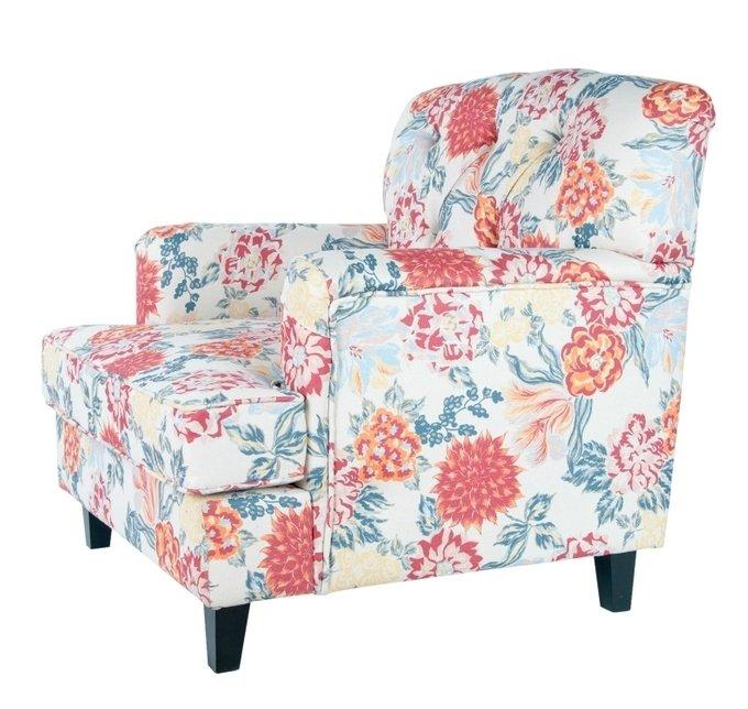 Кресло Somac color с цветочным принтом