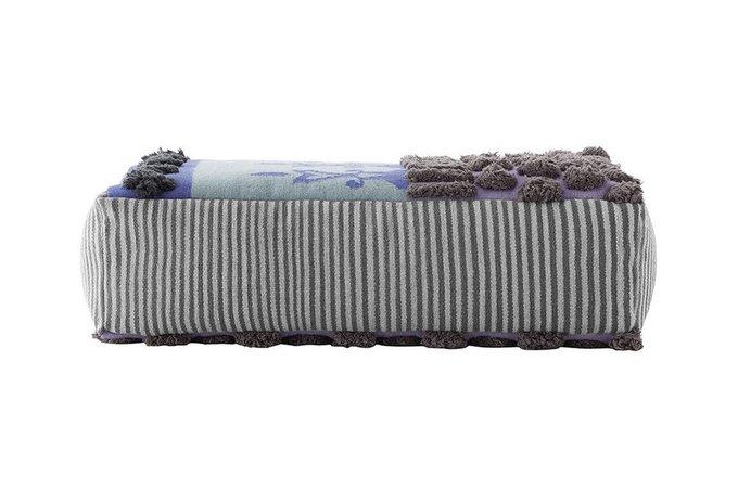 Пуфик Tumbuctu серо-синего цвета