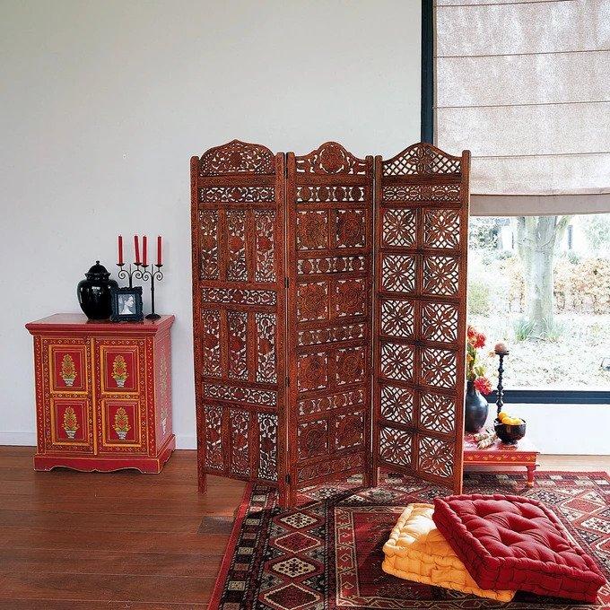 Ширма Aima с деревянной резьбой